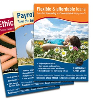 Planet friendly posters for East Sussex Credit Union