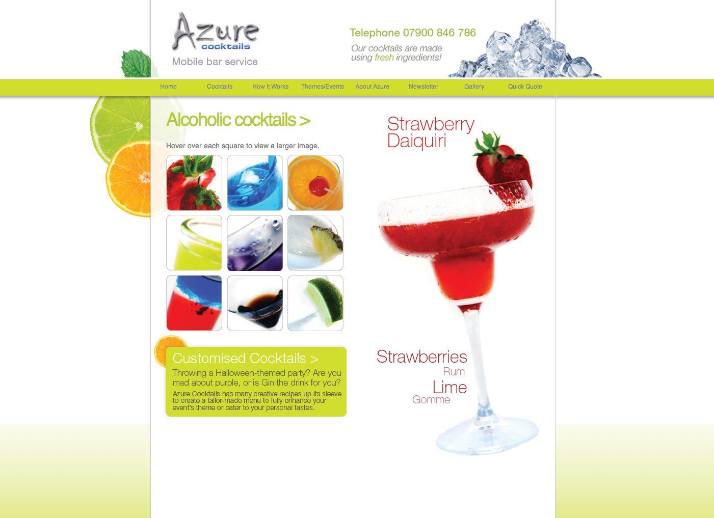 Azure cocktails