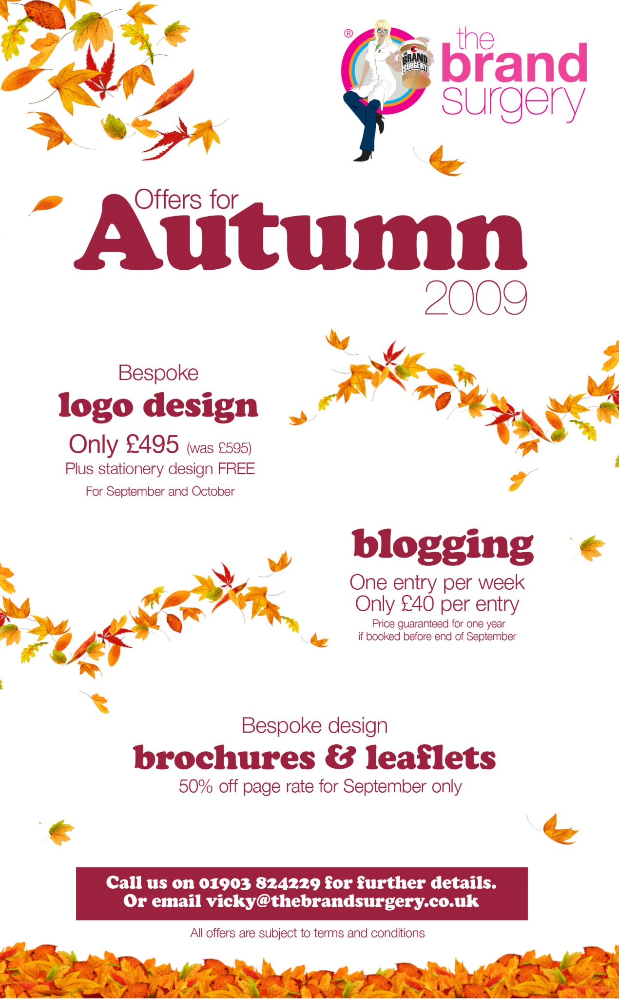 Autumn offers from The Brand Surgery