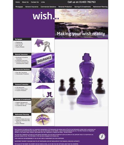 Brand New Wish Financial website