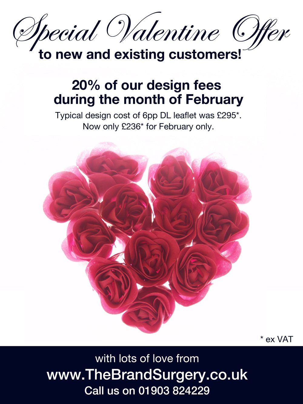 Valentine offer from The Brand Surgery