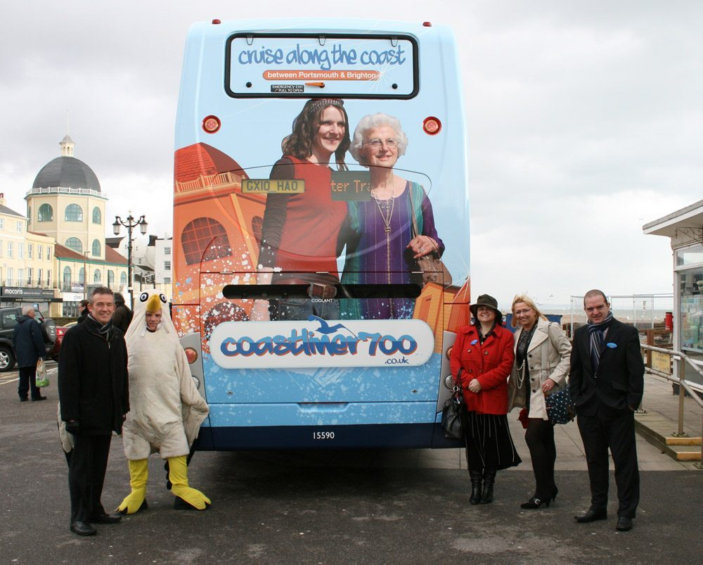 Coastliner rebrand illustrations are launched