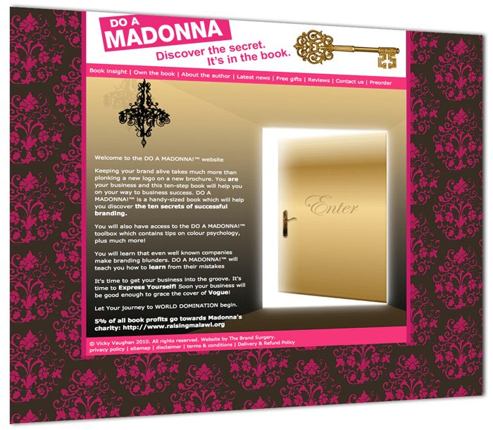 DO A MADONNA!™ The Secret to Successful Branding by Vicky Vaughan