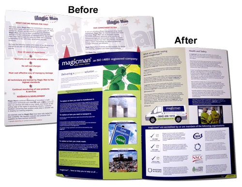 Magicman rebrand included logo, brochure, website, livery, signage, uniforms