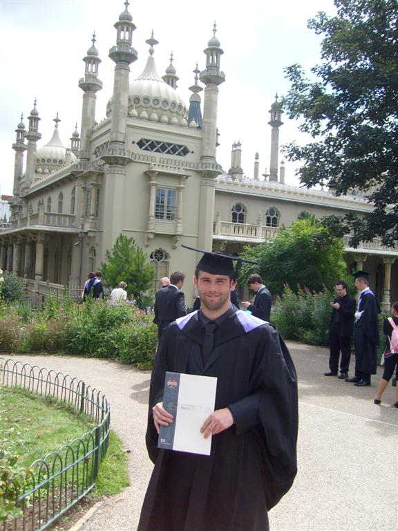 Richy Moss graduating at Sussex University