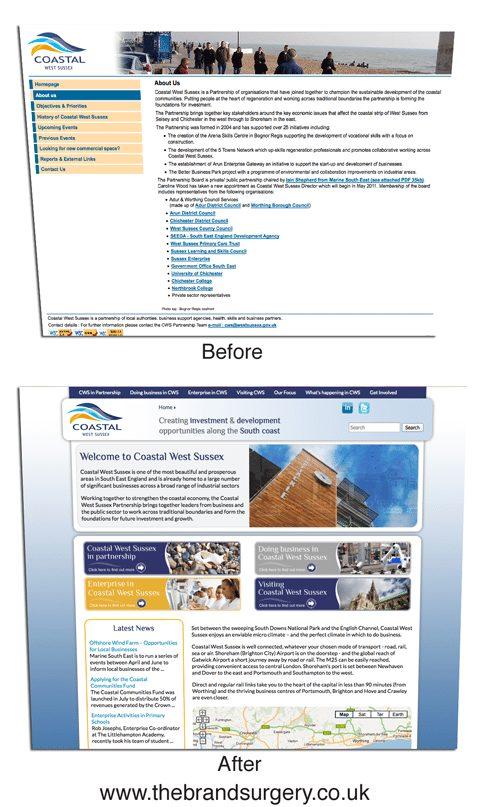 Coastal West Sussex website