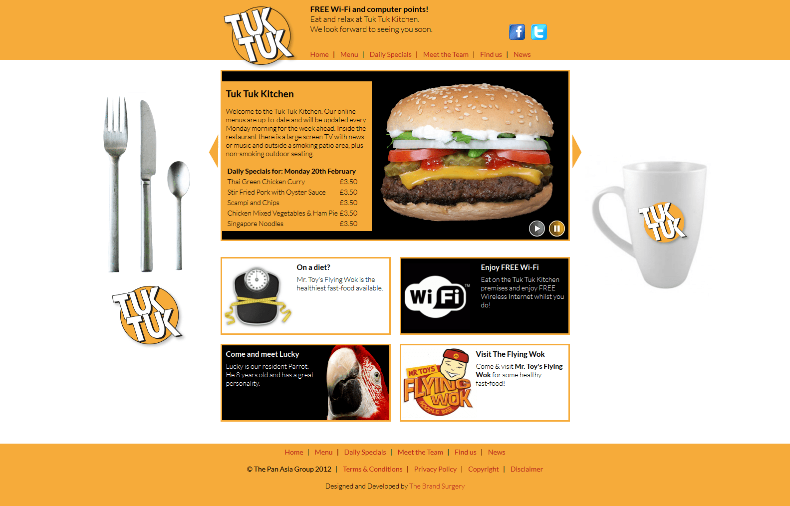Tuk Tuk Kitchen - Home Page