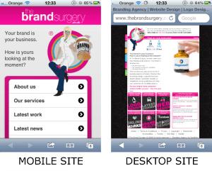 Mobile vs Desktop Website