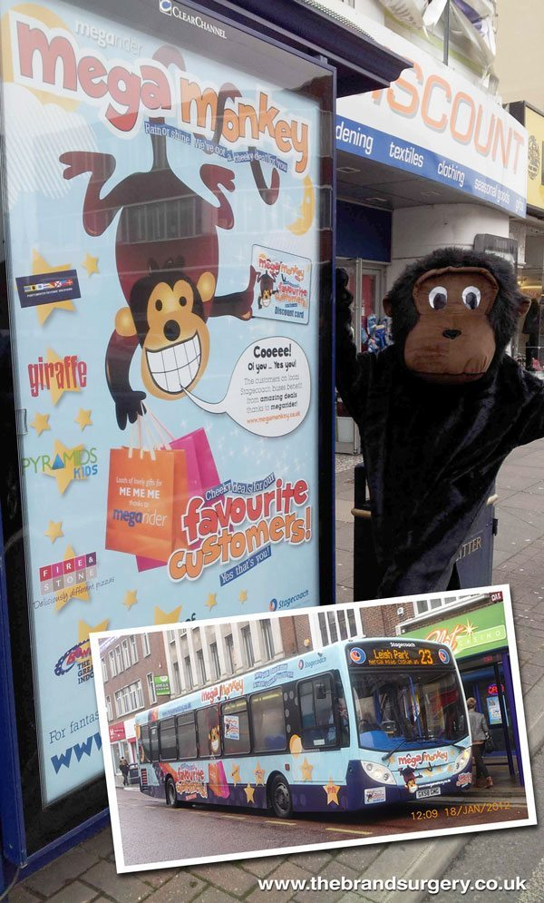 Mega Monkey concept for Stagecoach South by The Brand Surgery