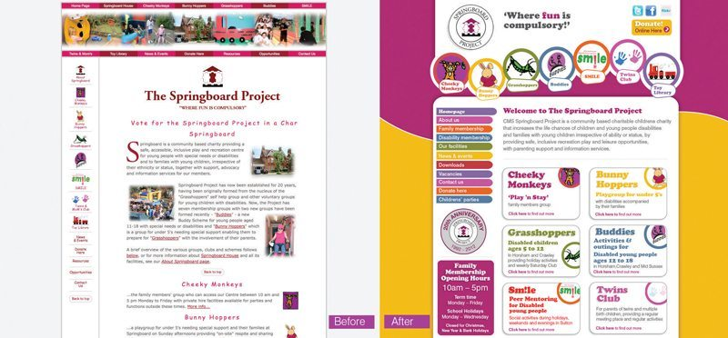 The Springboard Project website design and development