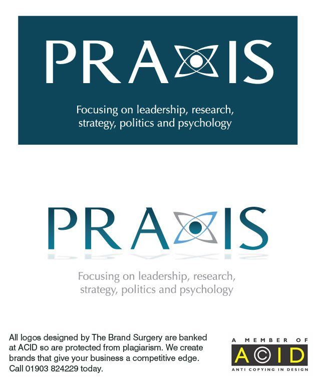 corporate identity and logo design for Praxis Leadership Management