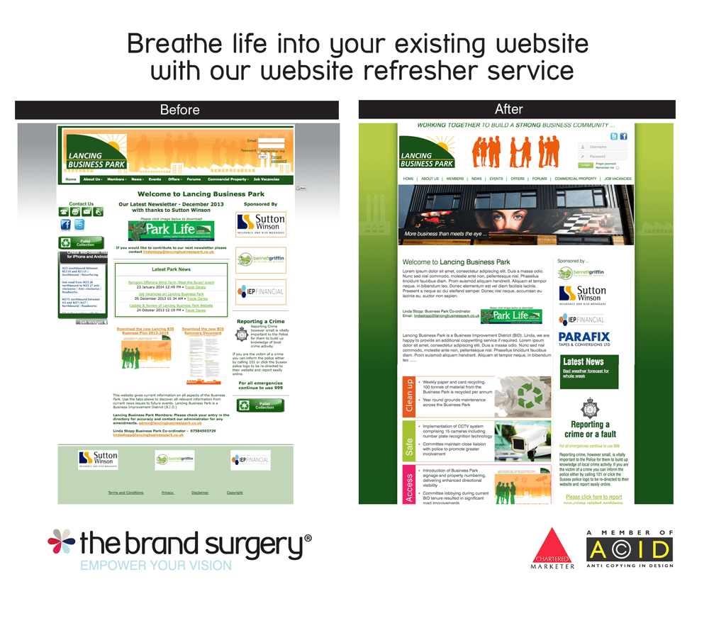 Website design by The Brand Surgery