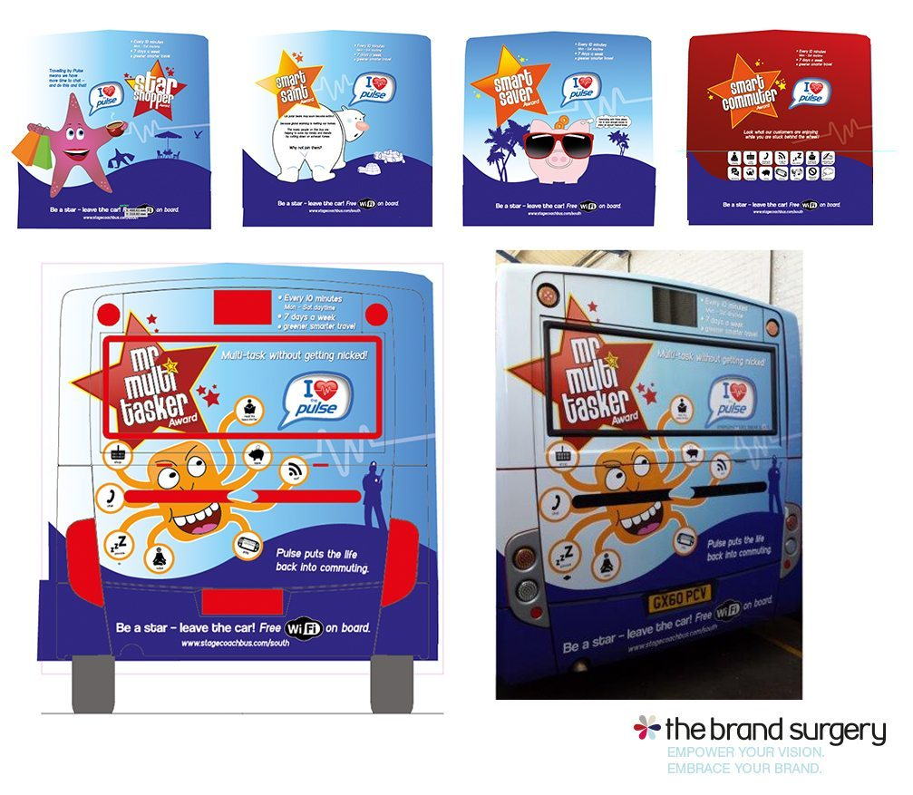 Stagecoach South - Pulse Bus livery design