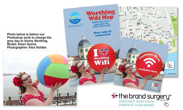 Worthing WIFI brochure design