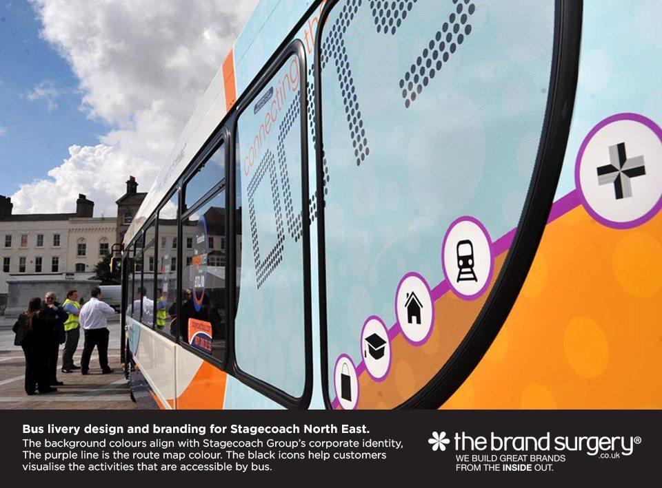 Bus livery branding design
