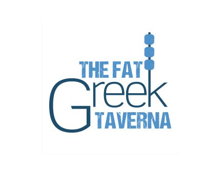 Corporate identity and logo design for The Fat Greek Taverna