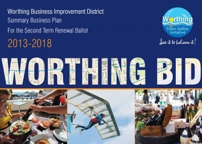 Business Improvement District (BID) marketing for Worthing Town Centre Initiative