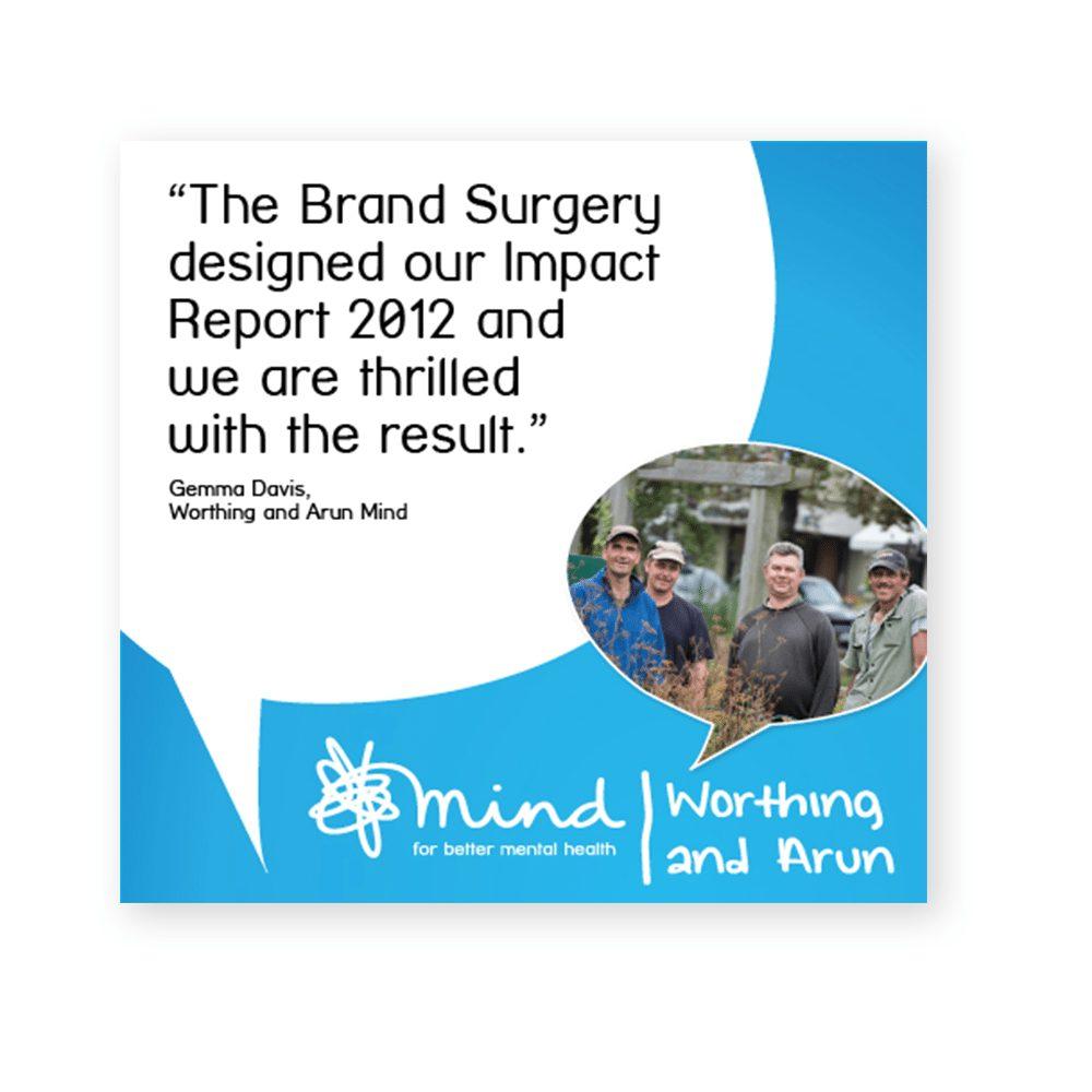 Charity impact report testimonial