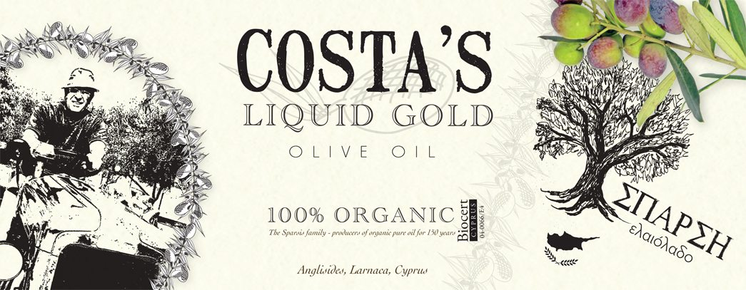 Logo design, corporate identity and packaging for food and beverages - Costa Olive Oil