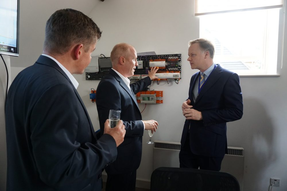 Past Chairman of Horsham District Council chatting to Boss Directors