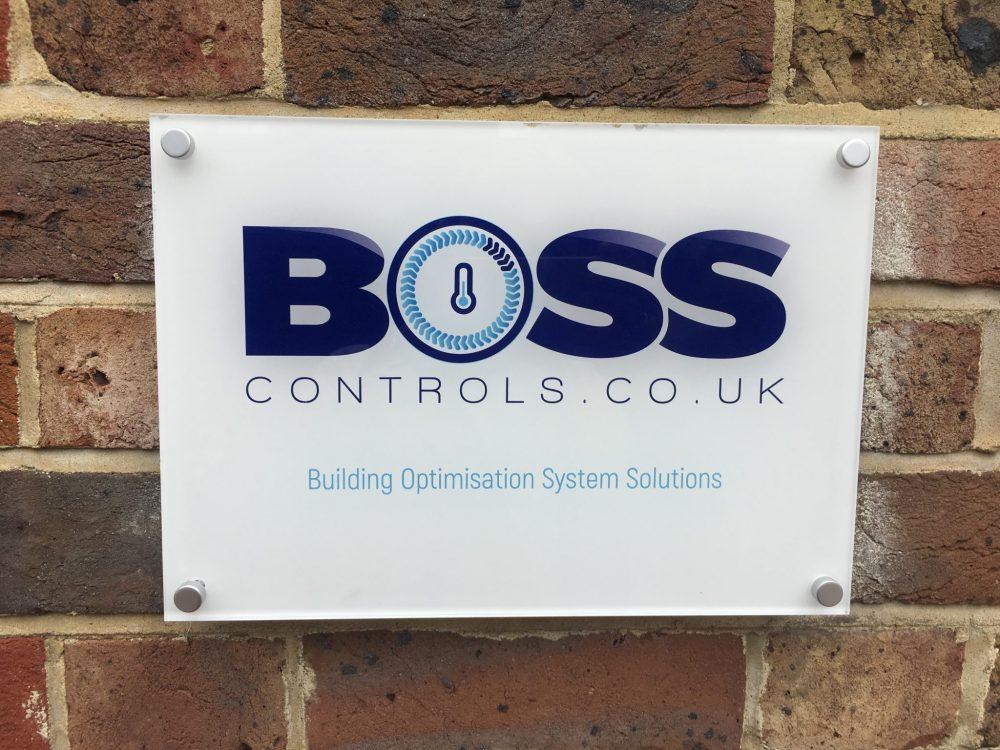 Logo design and signage - Boss Controls