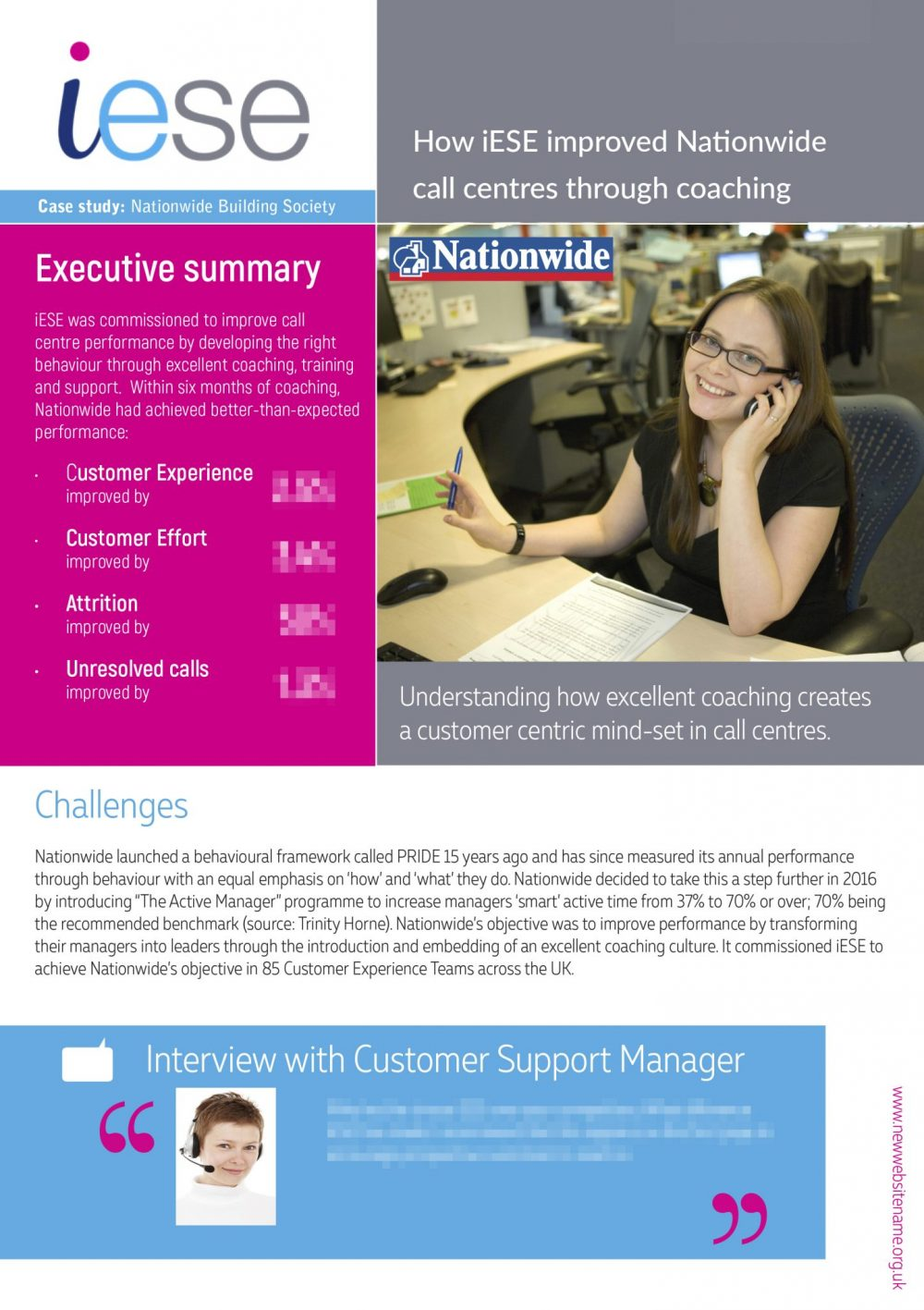 Case study Nationwide Call Centre