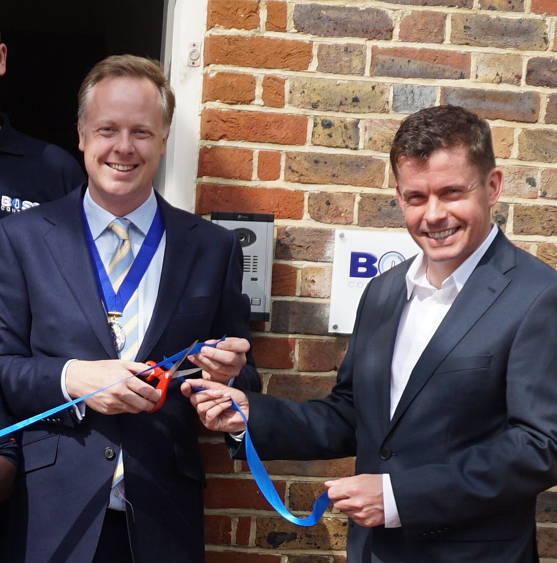 The launch - cutting the ribbon, Past Chairman of Horsham, Cllr Christian Mitchell