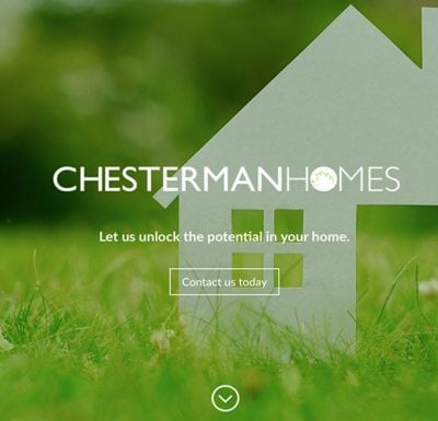 Business startup – logo design and website – Chesterman Homes