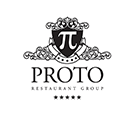 Proto restaurant group Fat Greek Restaurant logo design