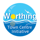 Worthing Town Centre Initiative branding, PR, logo design