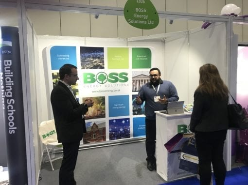Marketing collateral and exhibition graphics for the energy sector – Boss Controls