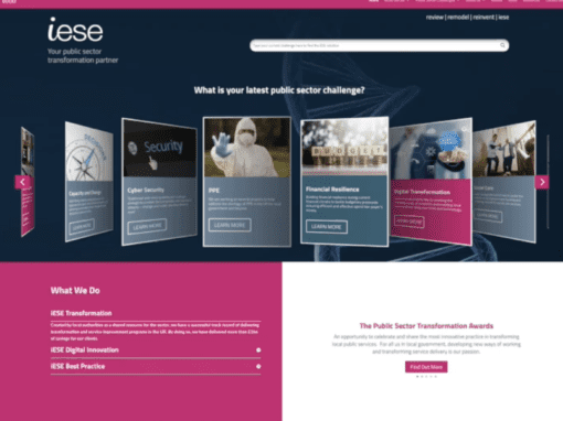 New website launch for iESE Public Sector Consultants