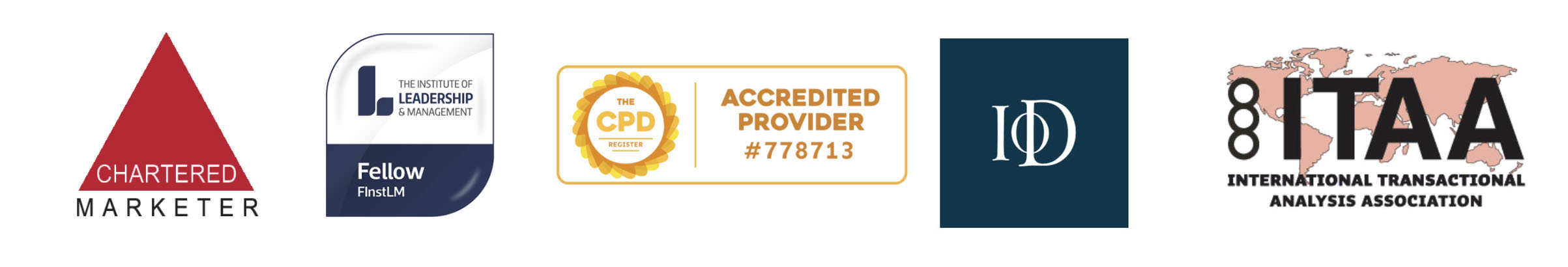 The Brand Surgery Marketing and Training accreditations