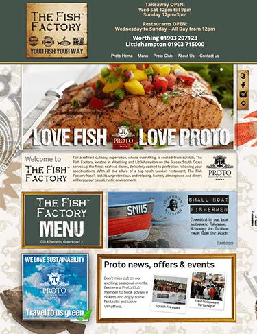 Website and logo design - Proto Restaurant Group