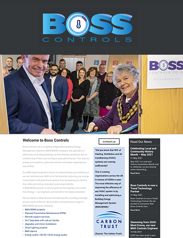 Brand launch event for Boss Controls - BMS controls and energy management business helping clients achieve Net Zero