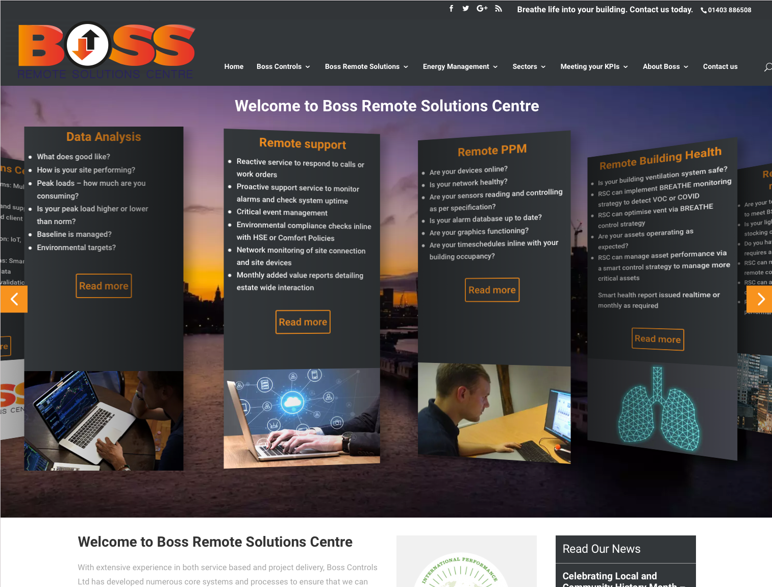 Boss Remote Solutions sub-brand logo for new business